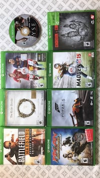 Assorted Xbox one games Kitchener, N2B 1L1