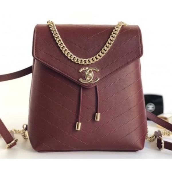 8271af32d594 Used Chanel Burgundy Backpack - Shipping Only for sale in OZONEPARK ...
