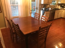 REDUCED: Solid Wood Dining Set Crossposted