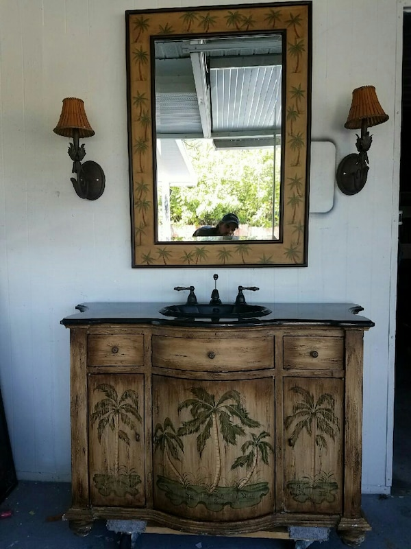 Nice Tropical Bath Vanity