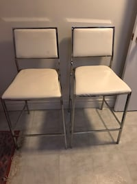 Two White Leather Bar Stools Toronto, M3A 2A7