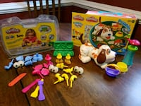 Playdoh zoo and puppy dog sets