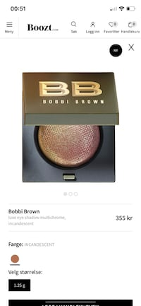 Bobbi Brown luxe eye shaddow Vinterbro, 1407