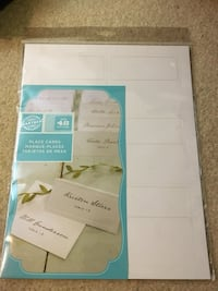 Reduced! Gartner Printable Wedding Place Cards Burnaby, V3J