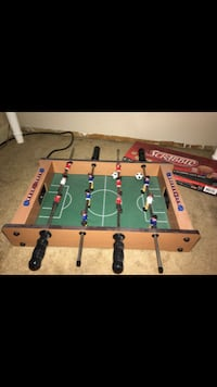 brown and green foosball table BAYVILLE
