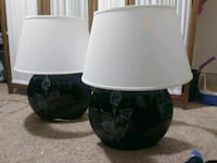 two white-and-black table lamps Duncannon, 17020