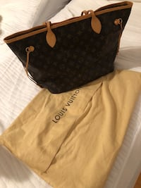Black and brown louis vuitton leather tote bag Fairfax Station, 22039