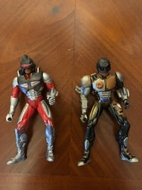 """2 - 1997 DC Comics Shaquille O'Neal Steel Armor-Up Action Figures, 5.5"""" Rare 59 mi"""
