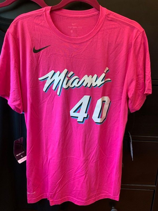info for 0ece5 337dd Udonis Haslem Miami Heat Pink Vice Nike Name and Number Shirt