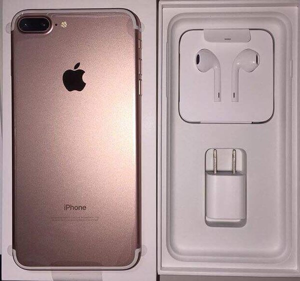 online retailer b9272 42a88 gold iphone 7 plus and box