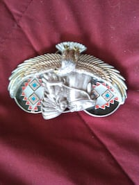 native american belt buckle pure pewter with ceramics paint Nashville, 37210