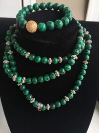 Natural Malachite Bracelet and Necklace Hanover, 21076