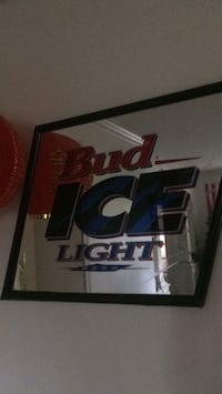 Bud Ice light framed mirror  Arlington, 22204