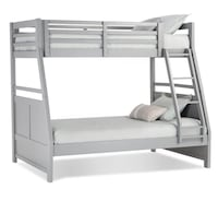 white wooden bunk bed frame