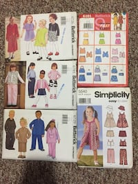 5 Sewing Patterns Child 6-7-8 Barrie, L4N 7N1