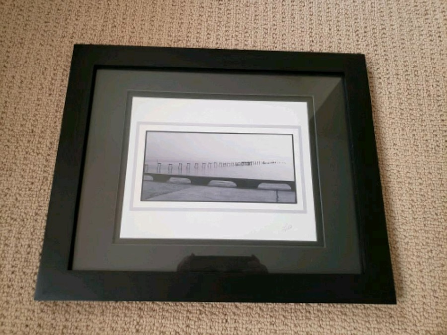 Photo Serene 16x13 matted, frames and signed. Black n gray tones