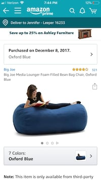 Big Joe Fuf foam filled lounger Leeper, 16233