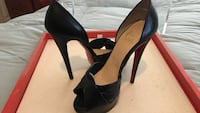 pair of black leather pointed-toe pumps Iselin, 08830