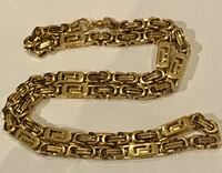 18kt gold over stainless steel chain necklace
