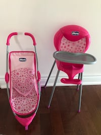 baby's pink and white travel system Richmond Hill, L4C 0B2