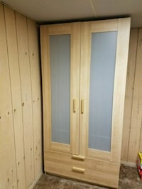 brown wooden wardrobe with mirror Plainview, 11803