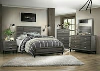 Davi Gray Panel Bedroom Set   Houston