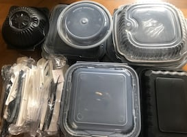 FREE FOOD CONTAINERS-to-go boxes -plastic containers