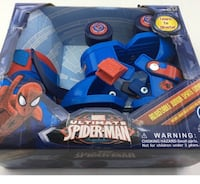 Lightly used Spider Man roller skates with knee pads Bergenfield, 07621