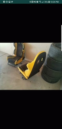 pair of black-and-yellow racing seats Lucerne Valley, 92356