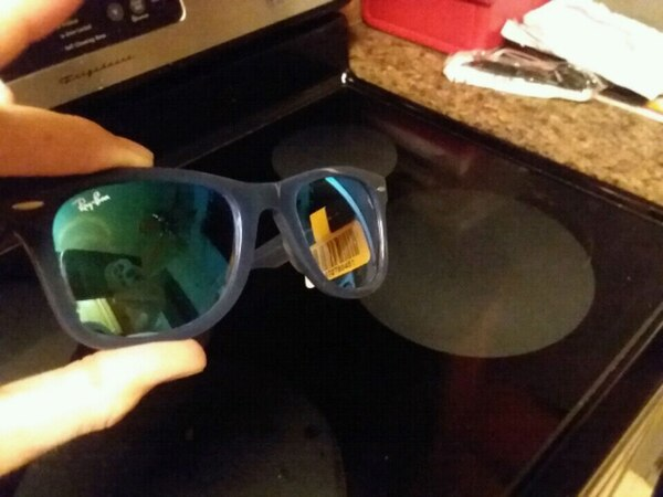 8618008ce75c2 Used blue framed Ray-Ban wayfarer sunglasses for sale in Newport News