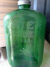green and clear glass bottle Raleigh, 27610