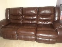 brown leather 3-seat recliner sofa Corpus Christi, 78414