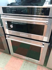 """30 """" KITCHEN AID ELECTRIC DOUBLE WALL OVEN STAINLESS STEEL"""