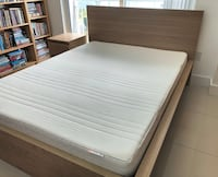 Ikea bed frame Malm, mattress Matrand  Size QUEEN and 1 night stand Miami, 33132