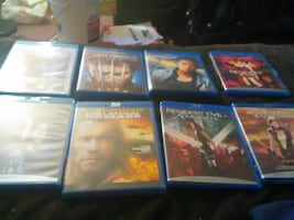 eight assorted Blu-ray movies