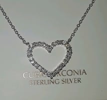 Heart sterling necklace