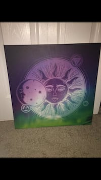purple and black sun and planets painting Wetumpka, 36092