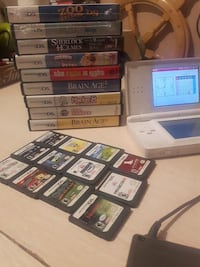 assorted Nintendo DS game cases