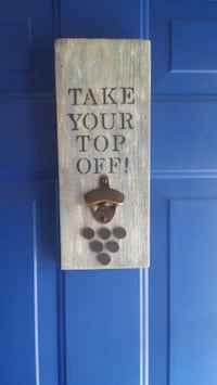 Bottle opener sign with magnet bottle top catcher Telford, 37690