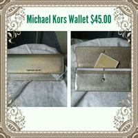 gray Michael Kors wallet collage with text overlay Fresno, 93728