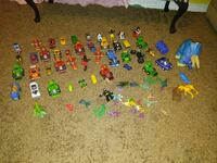 assorted plastic toy lot
