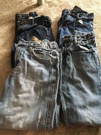 two blue and black denim jeans Ashburn, 20147