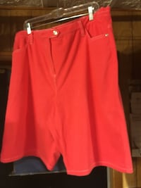 red denim shorts Castlewood, 24224
