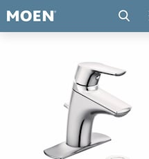 Moen Chrome One Handle Bathroom Faucet in a Brand Like new Condition.