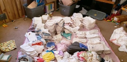 Gently used and clean cloth diapers.  Over 500 diapers and covers.