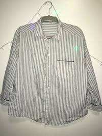 white and black stripe dress shirt Syracuse, 13210