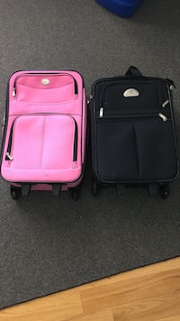 two pink and black softside luggage bags Mississauga, L5M 7W3
