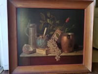 Picture with oak frame and still life Newport Beach