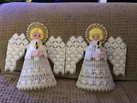 Pair of embroidered angels Manassas, 20111