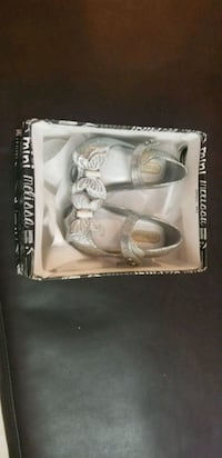 pair of gray leather sandals Kendall